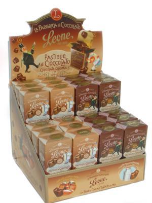 Expositor pastillas de chocolate